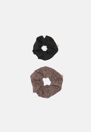 LEO JUMBO SCRUNCHIE 2 PACK - Hair styling accessory - brown/black