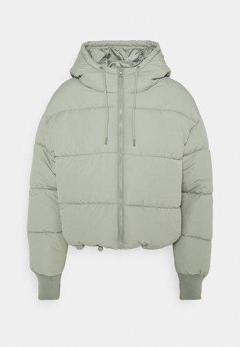 Winter jacket - khaki green dusty light