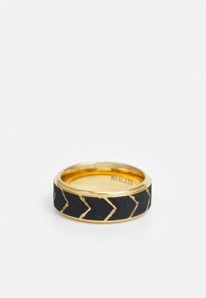 UNISEX - Anello - gold-coloured/black