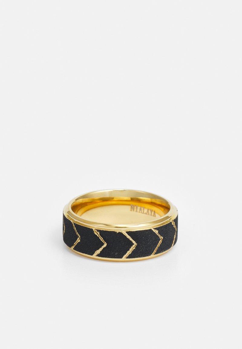 Nialaya - UNISEX - Anello - gold-coloured/black