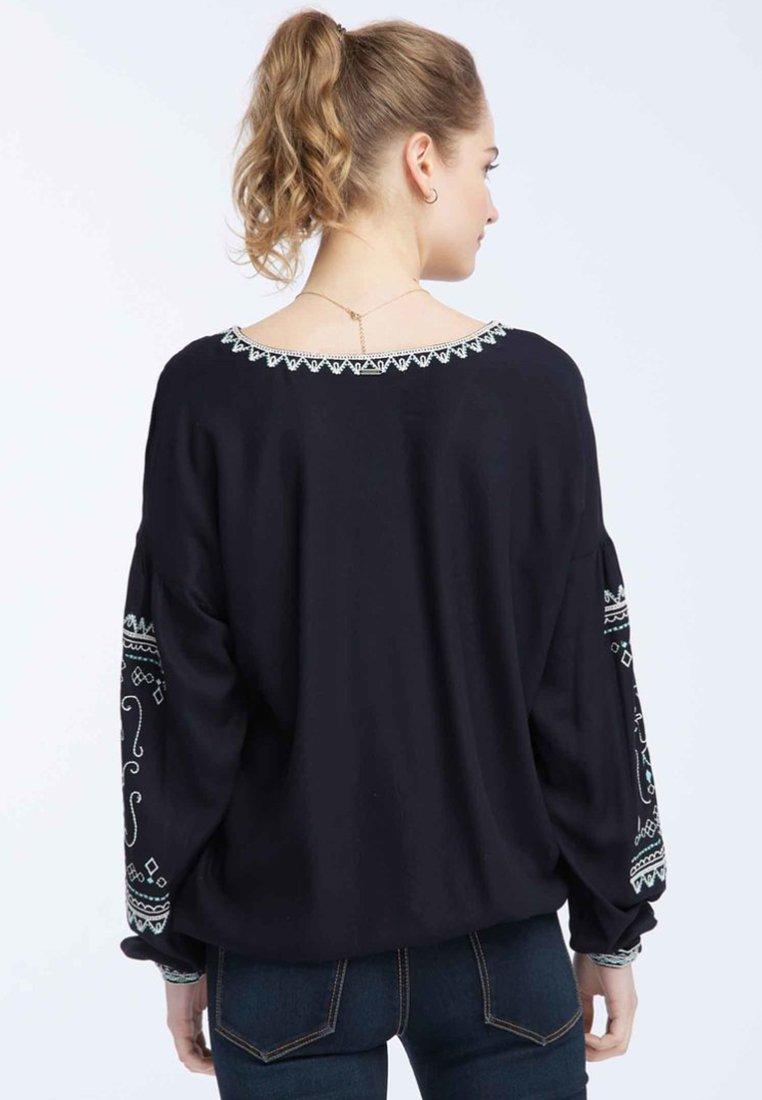 Recommend Discount Women's Clothing DreiMaster MIT AUFWENDIGER STICKEREI Blouse dark blue EiVvy3jaZ
