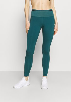 EPIC LUXE TRAIL - Leggings - dark teal green/reflective silver