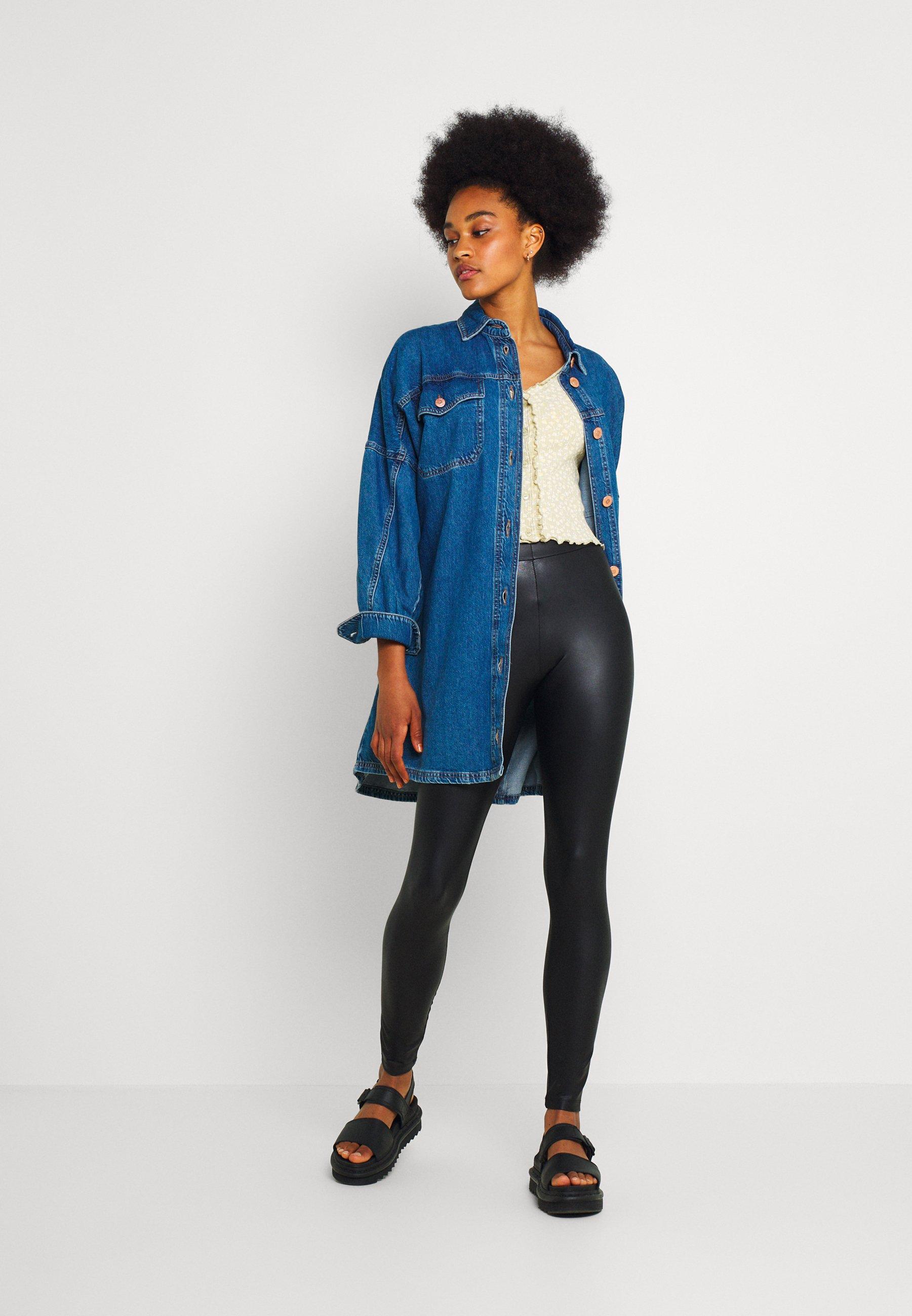 Damen PCNEW SHINY - Leggings - Hosen