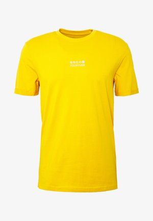 T-shirt med print - yellow