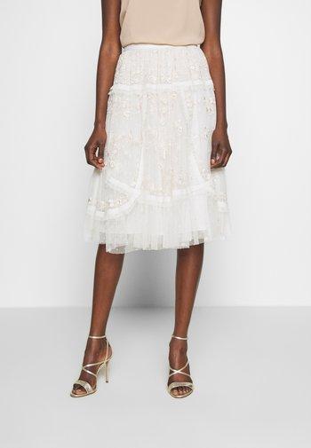 PENNYFLOWER EXCLUSIVE - Áčková sukně - moonshine white
