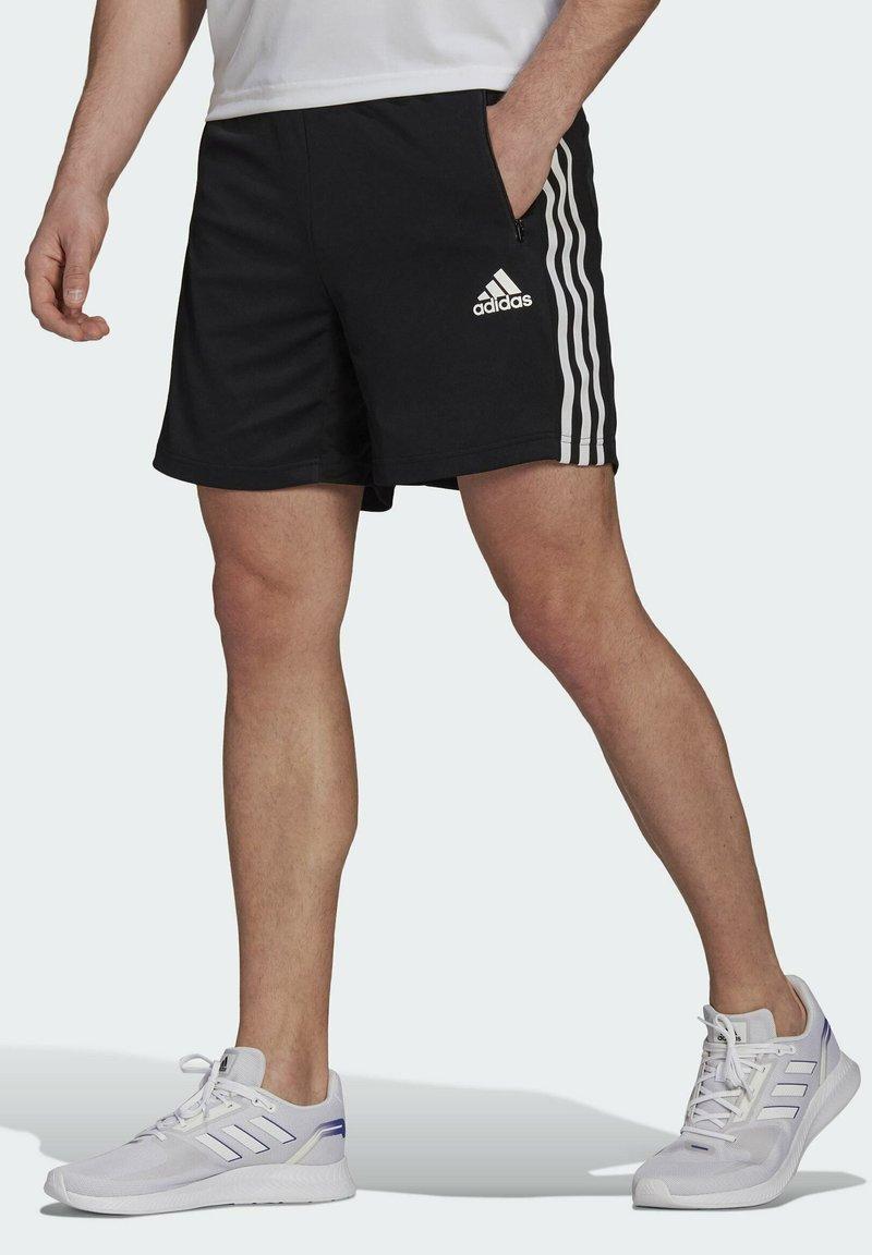 adidas Performance - PRIMEBLUE DESIGNED TO MOVE SPORT 3-STRIPES SHORTS - Sports shorts - black