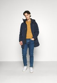 Calvin Klein - CRINKLE LONG LENGTH JACKET - Winter coat - blue - 1