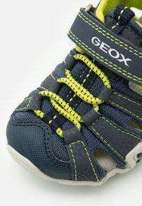 Geox - KRAZE - Walking sandals - navy/lime - 5