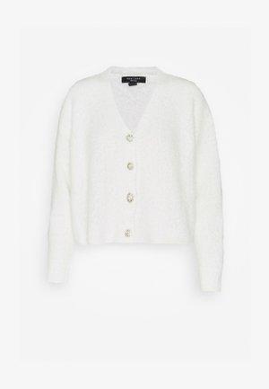 FLUFFY CARDI - Cardigan - off white