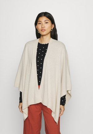 OPEN FRONT - Poncho - chalky sand