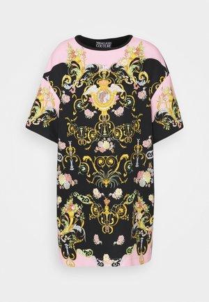 LADY DRESS - Freizeitkleid - black/pink confetti