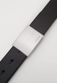 Calvin Klein - FORMAL PLAQUE BELT - Skärp - black - 3