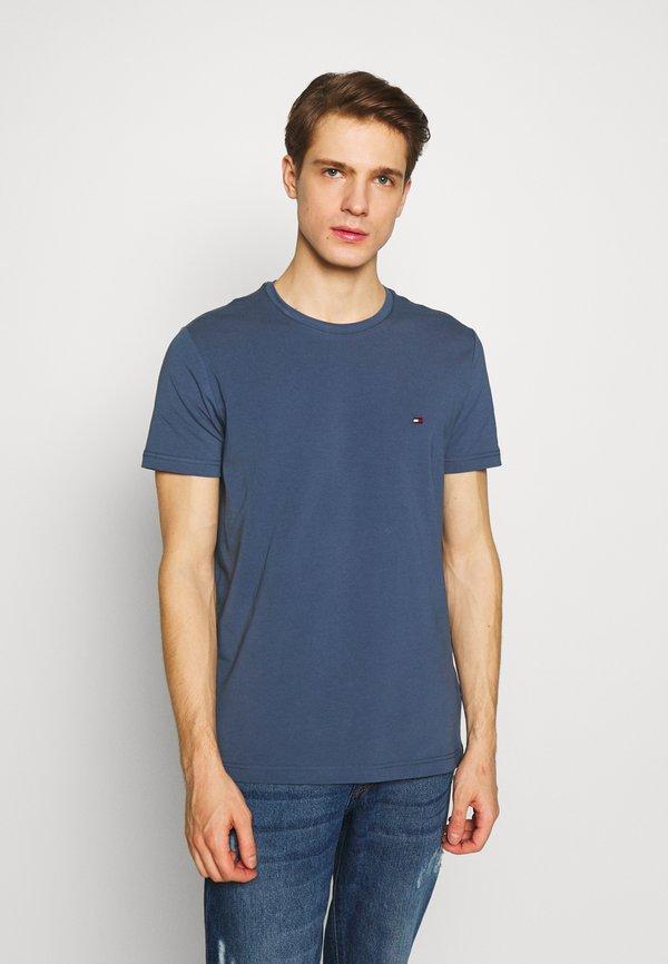 Tommy Hilfiger STRETCH TEE - T-shirt basic - blue/niebieski Odzież Męska SXLX