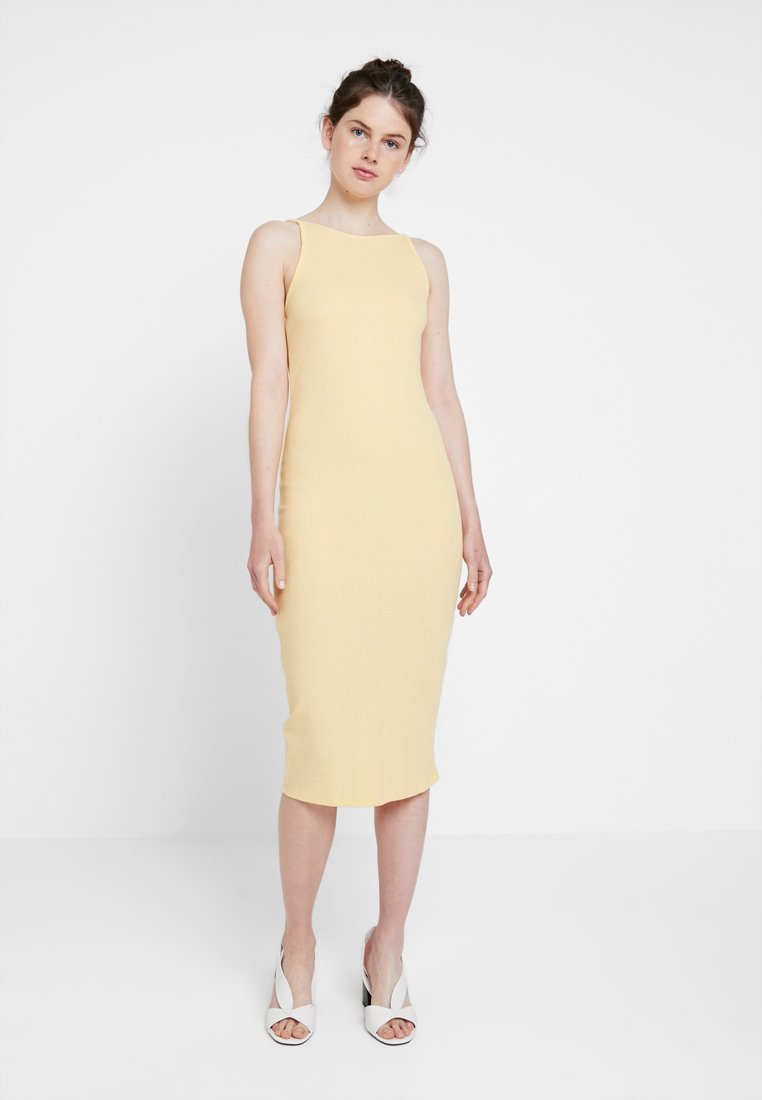 New Look - STRAPPY VARY - Shift dress - yellow