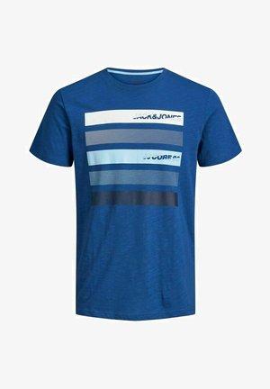 Print T-shirt - galaxy blue