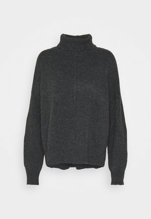 NMIAN ROLL NECK  - Strikpullover /Striktrøjer - dark grey melange