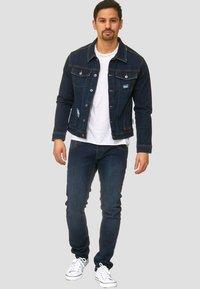 INDICODE JEANS - BRYNE - Denim jacket - dark-blue denim - 1