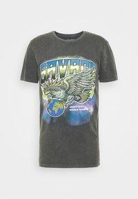 JORDUTI TEE CREW NECK - Print T-shirt - black