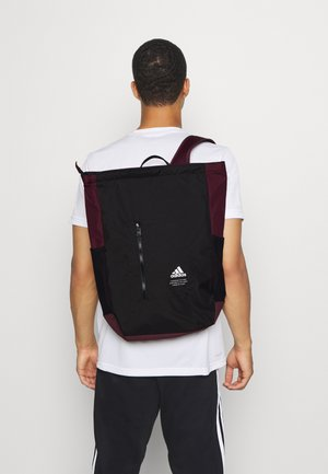TOP ZIP BACK TO SCHOOL SPORTS BACKPACK UNISEX - Reppu - black/maroon/white