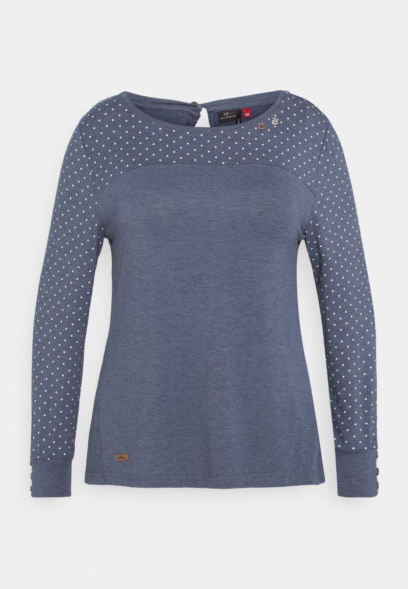 Ragwear Plus - MALITA PLUS - Topper langermet - blue