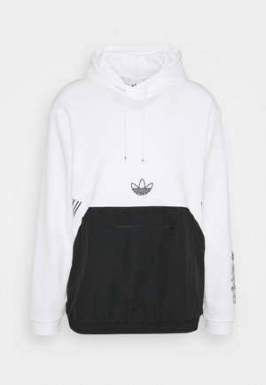 ARCH HOOD - Collegepaita - white/black