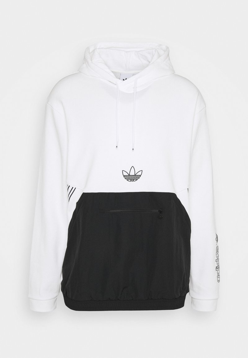 adidas Originals - ARCH HOOD - Sweatshirt - white/black