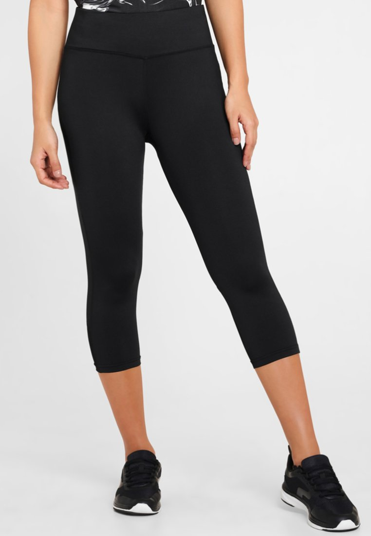 LASCANA Active - MIT BREITEM BUND - Leggings - black