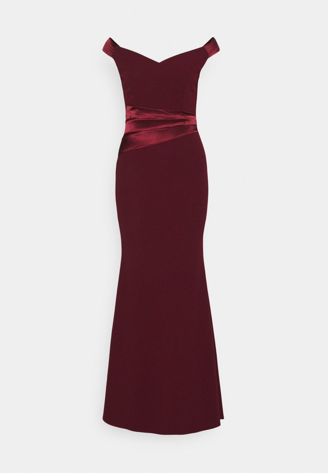 SELENE BAND MAXI - Festklänning - wine