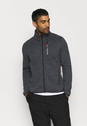 MAN JACKET - Fleece jacket - grey/antracite/nero