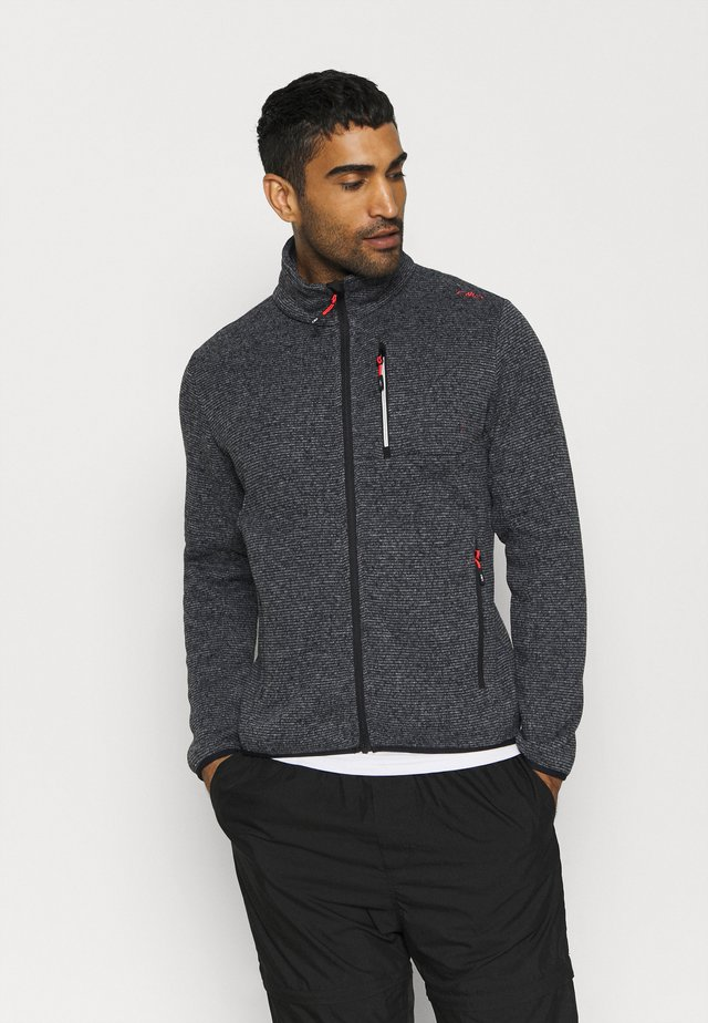 MAN JACKET - Forro polar - grey/antracite/nero