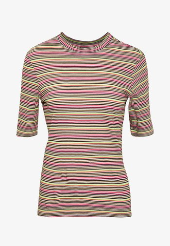 OVERLONG SHORT SLEEVES STRIPE SLIM FIT