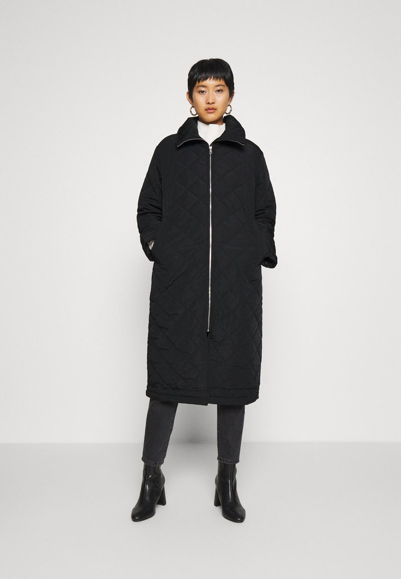 Lindex - COAT ANDIE QUILT - Klasický kabát - black