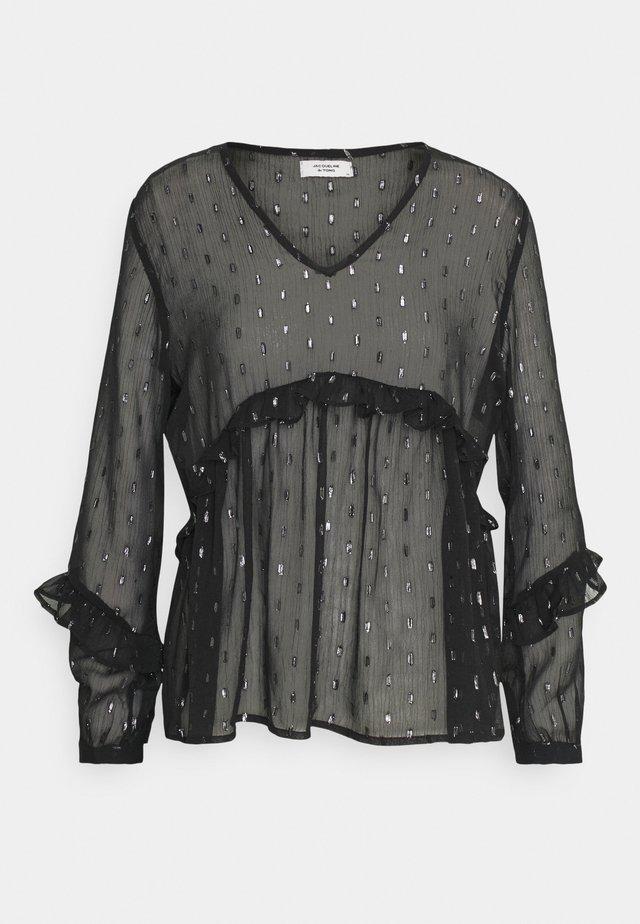 JDYSHIMMER TOP - Bluse - black/silver