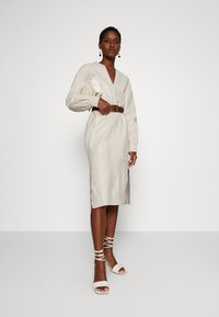 Ibana - DORRIS TUNIC DRESS - Shift dress - cream - 1