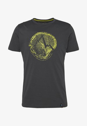 CROSS SECTION - Print T-shirt - carbon/kiwi
