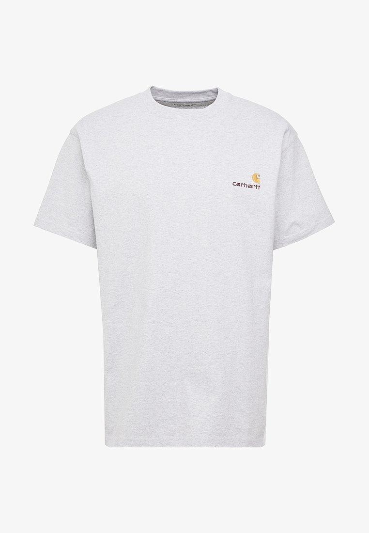 Decoración Conmoción Cosquillas  Carhartt WIP AMERICAN SCRIPT - Camiseta básica - ash heather/gris -  Zalando.es