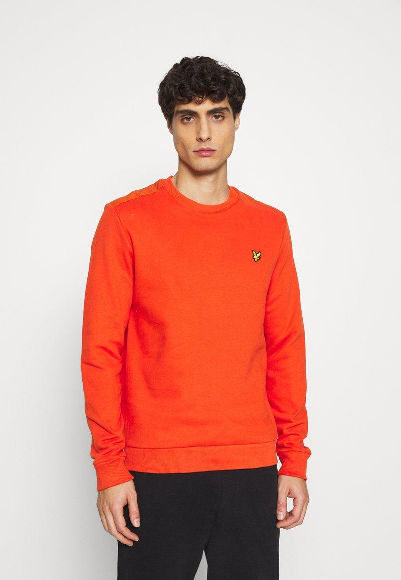 Lyle & Scott - RIPSTOP PANEL - Sweatshirt - burnt orange