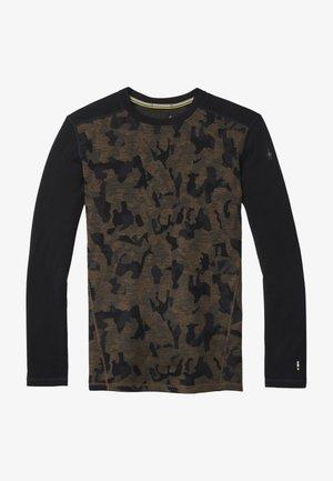 MIDWEIGHT 250 BASELAYER PATTERN CREW - Maglietta a manica lunga - black charcoal h/camo