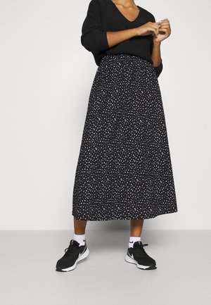 ONLZILLE SKIRT - Maxi skirt - black/white