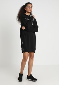 G-Star - ILOU ZIP HDD SW DRESS WMN L/S - Day dress - dk black - 2