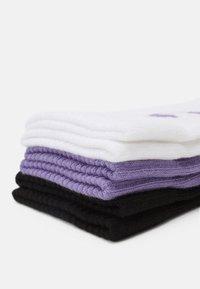 YOURTURN - NEO GOTH 3 PACK - Sokker - black/purple /off-white - 2