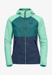 Jack Wolfskin - Waterproof jacket - dark indigo emerald green - 4