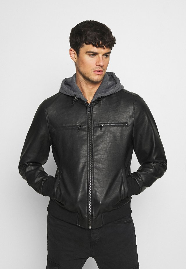 RAFAEL JACKET - Faux leather jacket - black