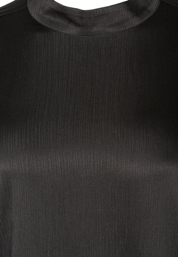 Zizzi WITH LONG PUFF SLEEVES - Bluzka - black/czarny KFSY