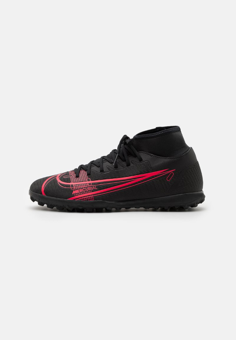 Nike Performance - MERCURIAL 8 CLUB TF - Astro turf trainers - black/cyber
