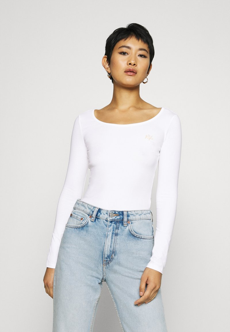Armani Exchange - Long sleeved top - off white