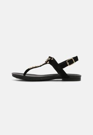 MAY - Sandaler m/ tåsplit - black
