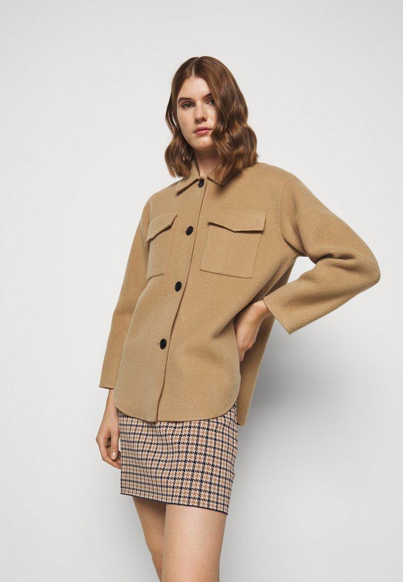 Claudie Pierlot - GAYA - Short coat - camel