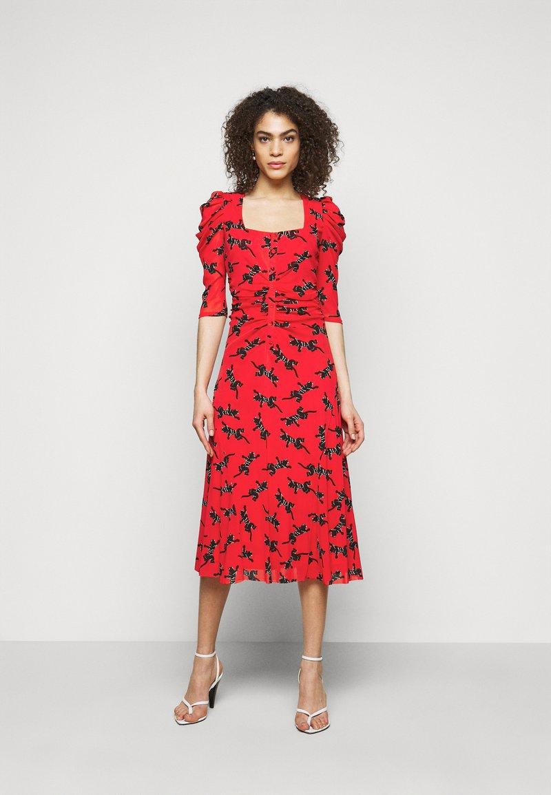 Diane von Furstenberg - ABRA DRESS - Denní šaty - red