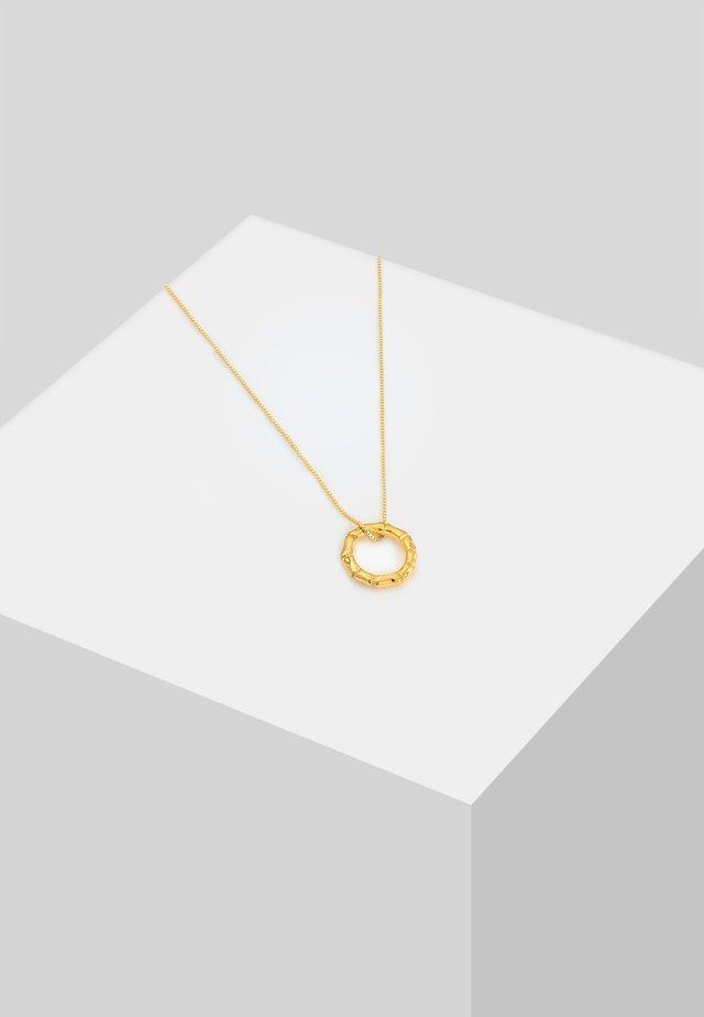 KREIS BAMBUS ANHÄNGER  - Kaulakoru - gold-coloured